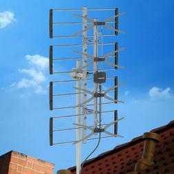 Leadzm 200 Miles Outdoor Amplified TV Antenna UHF Digital Si