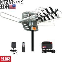 480Miles Outdoor TV Antenna motorized Amplified HDTV High Ga