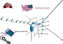 200Mile Outdoor TV Antenna Motorized Amplified HDTV 1080P 4K