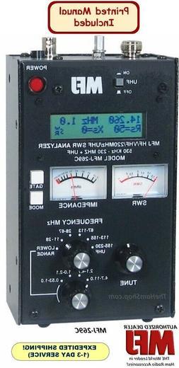 MFJ-269C HF/VHF/220 MHZ UHF, COVERS 530 KHZ TO 230 MHZ & 415