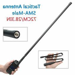 28.3'' ABBREE SMA-Male CS Tactical Antenna for Yaesu Kenwood