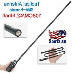 "42.5"" ABBREE SMA-Female Tactical Antenna For Baofeng UV-5R U"