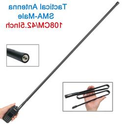 "42.5"" ABBREE SMA-Male CS Tactical Antenna for Yaesu Kenwood"