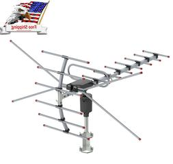 480 Mile 360°Rotation Outdoor HD TV Antenna Amplified Motor