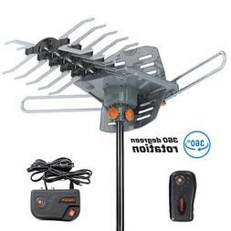 480Miles Outdoor TV Antenna Motorized Amplified HDTV 1080P 4