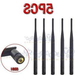 5x 5dBi High Gain WiFi Antennas RP-SMA for Linksys Asus TP-L