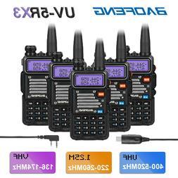 5x Baofeng UV-5RX3 Tri-Band V/UHF 1.25M DTMF VFO Two way Rad