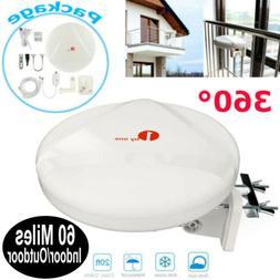 1Byone 60 Miles TV Antenna Indoor Outdoor Omni-directional 3