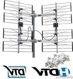8 BAY MULTI-DIRECTIONAL VHF UHF OUTDOOR HD TV ANTENNA OVER T