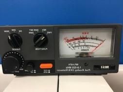 MFJ -874 Grandmaster SWR/Power Meter HF-VHF-UHF 1.8-525 MHZ