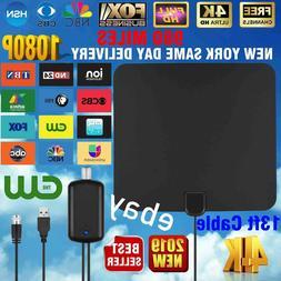 Digital TV Antenna 980 Miles Signal Booster Amplifier HDTV I