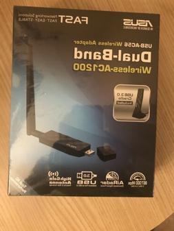 Asus USB-AC56 Dual-Band Wireless-AC1200 Wi-Fi Adapter W 2dBi