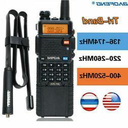 BaoFeng BF-R3 Tri-Band 3800mAh Long Range Two Way Radio & 42