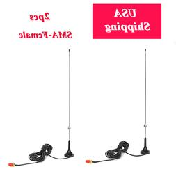 Dual Band SMA-Female Magnetic Base Car Indoor Antenna for Ba