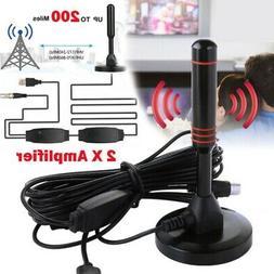200 Miles Range Indoor HD 1080P Digital TV Antenna Amplified