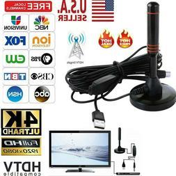 HDTV Antenna Aerial HD 300 Mile Digital TV Signal Booster Am