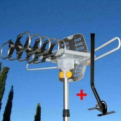 150miles outdoor tv antenna motorized amplified hdtv