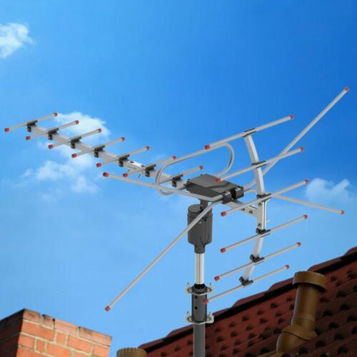 990 Miles HDTV Outdoor Amplified Antenna HD TV Directional U