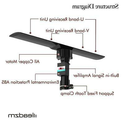 990 mile outdoor tv antenna motorized amplified