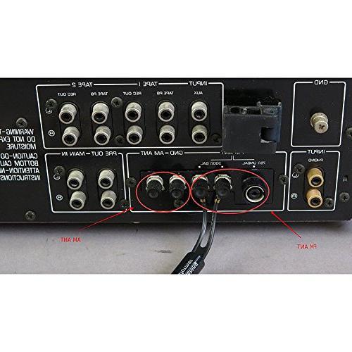 Maxmoral Radio Indoor Antenna HD Aerial Type UNBAL for YAMAHA SONY