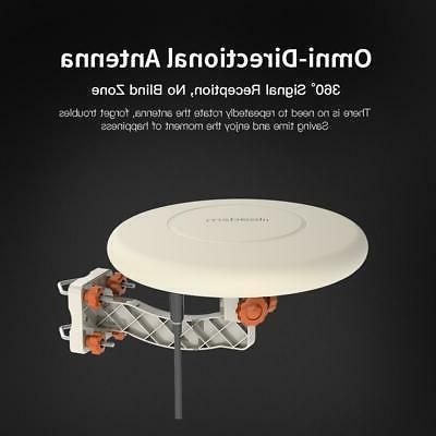 HDTV Amplified Antenna 360° Digital HD 4K