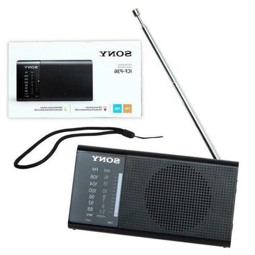Sony ICF-P36 Compact Portable AM/FM Radio & Hand - Black