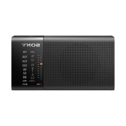 Sony ICF-P36 Compact AM/FM Radio & Hand Strap - Black