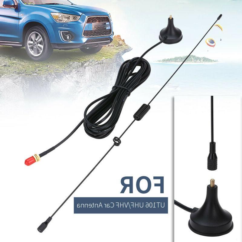 UT-106 UHF/VHF Car Mobile Dual Band SMA-Female Antenna For B