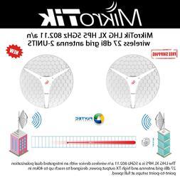 MikroTik LHG XL HP5 US 5GHz 802.11 a/n wireless 27 dBi grid