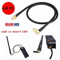 NEW 19.6in Extension Antenna SMA Female to SMA Male Extender