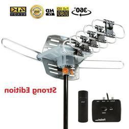 Outdoor Antenna 150 Mile 360 Degree Rotation OTA Amplified H