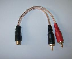 Metra RCAY1 Gold RCA Y Adapter Interconnet Audio Cable Amp W