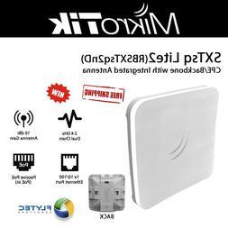 Mikrotik SXTsq Lite2 RBSXTsq2nD CPE/Backbone 2.4GHz and 10dB