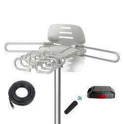 TV Antenna - 90% Pre-Assembled 150 Miles Range Outdoor Motor
