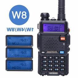 Baofeng UV-5R 8W Tri-power 8W/4W/1W Dual Band V/UHF Two Way