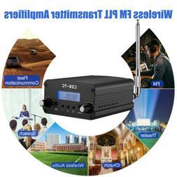Wireless PLL FM Transmitter Radio System Stereo Antenna Broa