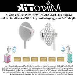 Mikrotik Wireless Wire Dish RBLHGG-60adkit 60GHz 1.8Gbps 1.5